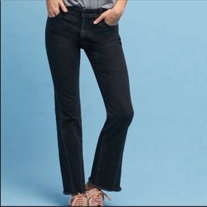 Anthro Pilcro Cropped High Rise Flare Jeans Sz 32